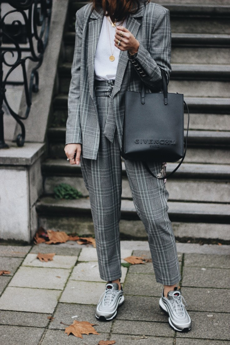 shopping - suit with trainers - nickyinsideout