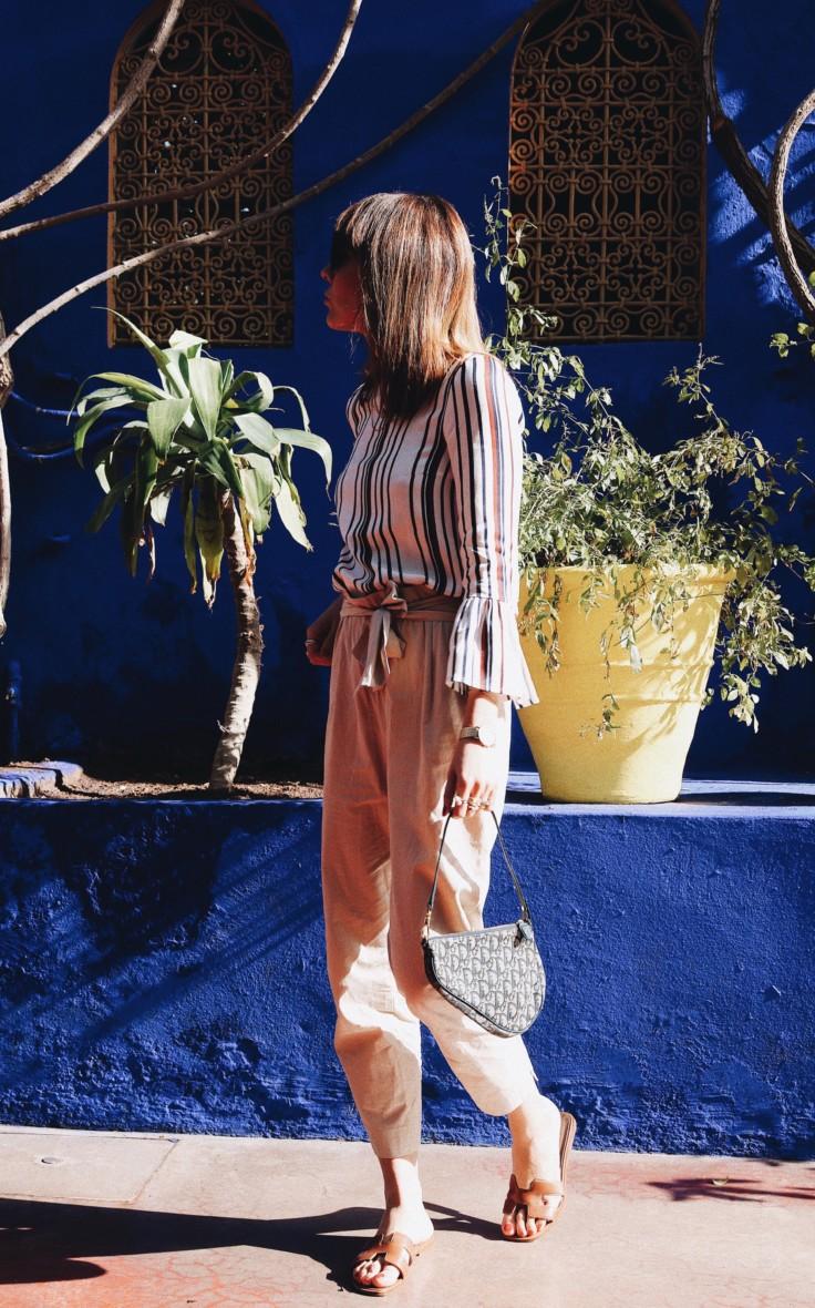 marrakech - jardin majorelle - nickyinsideout - nicole ballardini - baum und pferdgarten - vintage dior bag - hermes sandals