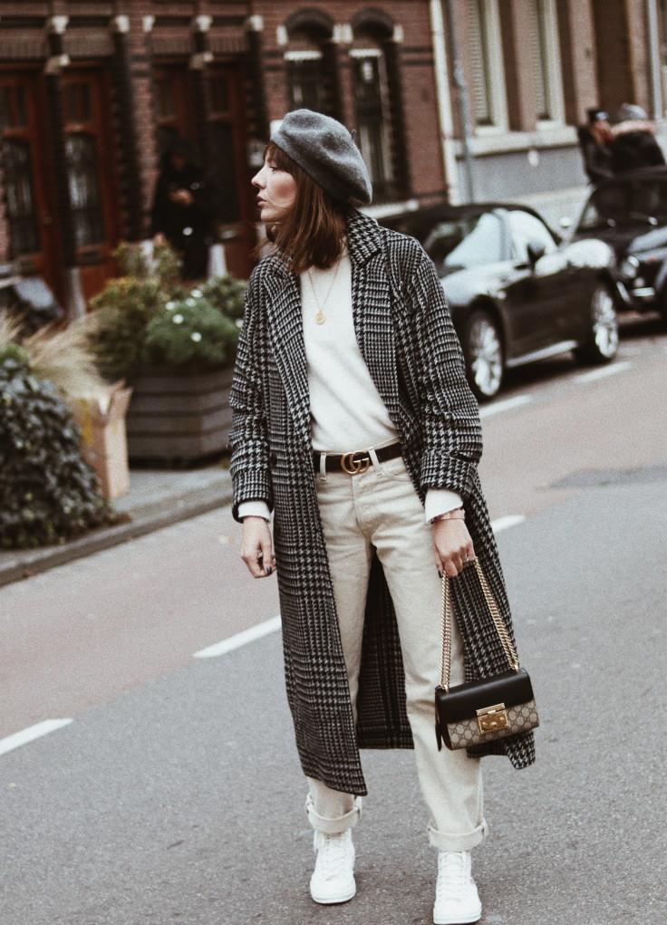 nickyinsideout -check print coat - shopping - winter fashion