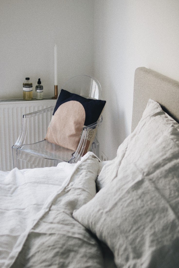 bed frame - bedroom - eve sleep - linen sheets - mattress
