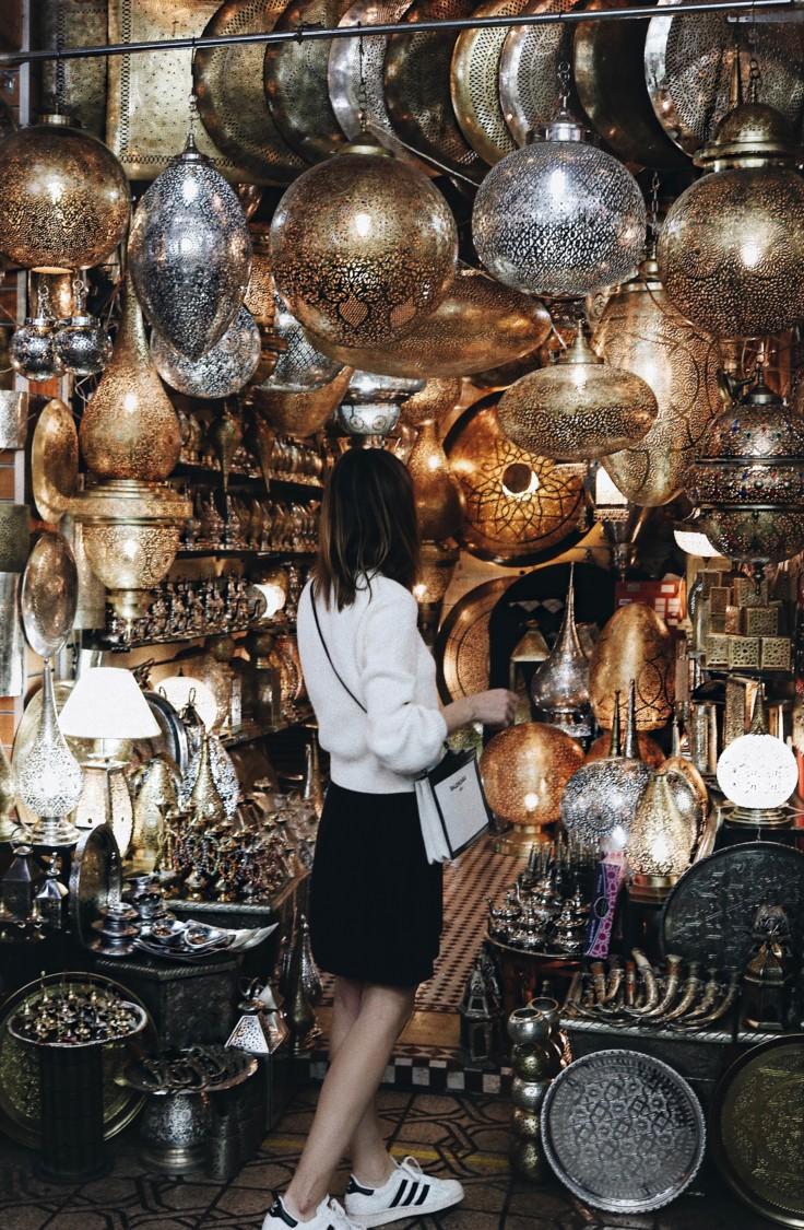 marrakech - travel tips - souk - maroccan style lamps - nickyinsideout - nicole ballardini