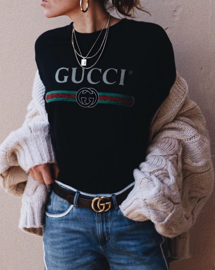 nicole ballardini - nickyinsideout - statement t-shirt - gucci t-shirt