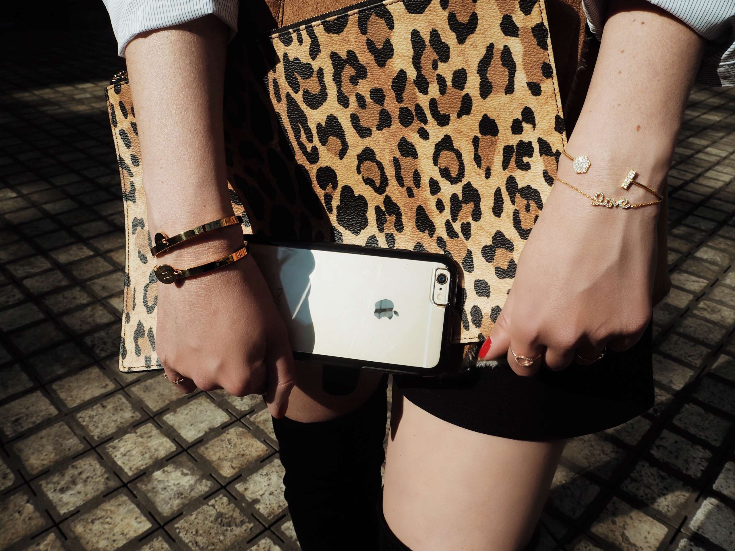 shearling-vest-gucci-belt-public-desire-over-the-knee-boots-givenchy-bag-leopard-print-myjewellery-initial-armband-symmetry-series-clear-phone-case-otterbox-scheepsvaart-museum-Amsterdam-hilton-hotel