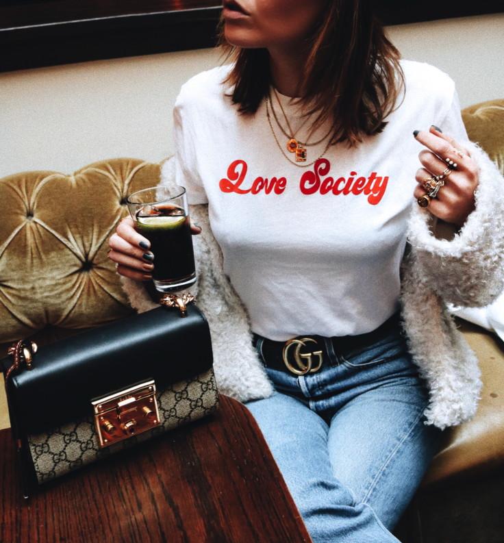 nicole ballardini - nickyinsideout - statement t-shirt - ganni - love society