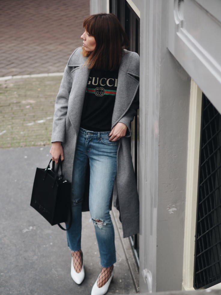 nickyinsideout - fashion - grey coat - inspiration - outfit - street style - style - white shoes - grey coat with white heels