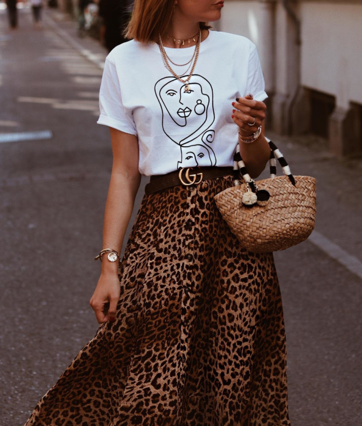straw bag - leopard print