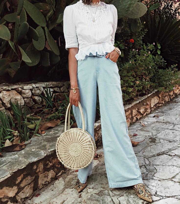 straw bag - topshop